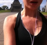 Running through my hometown. Shrine in St Kilda.
