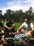 Picnic at the Botanical Gardens in Melbourne - Roy and Wal